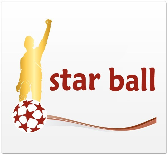 logo design star ball