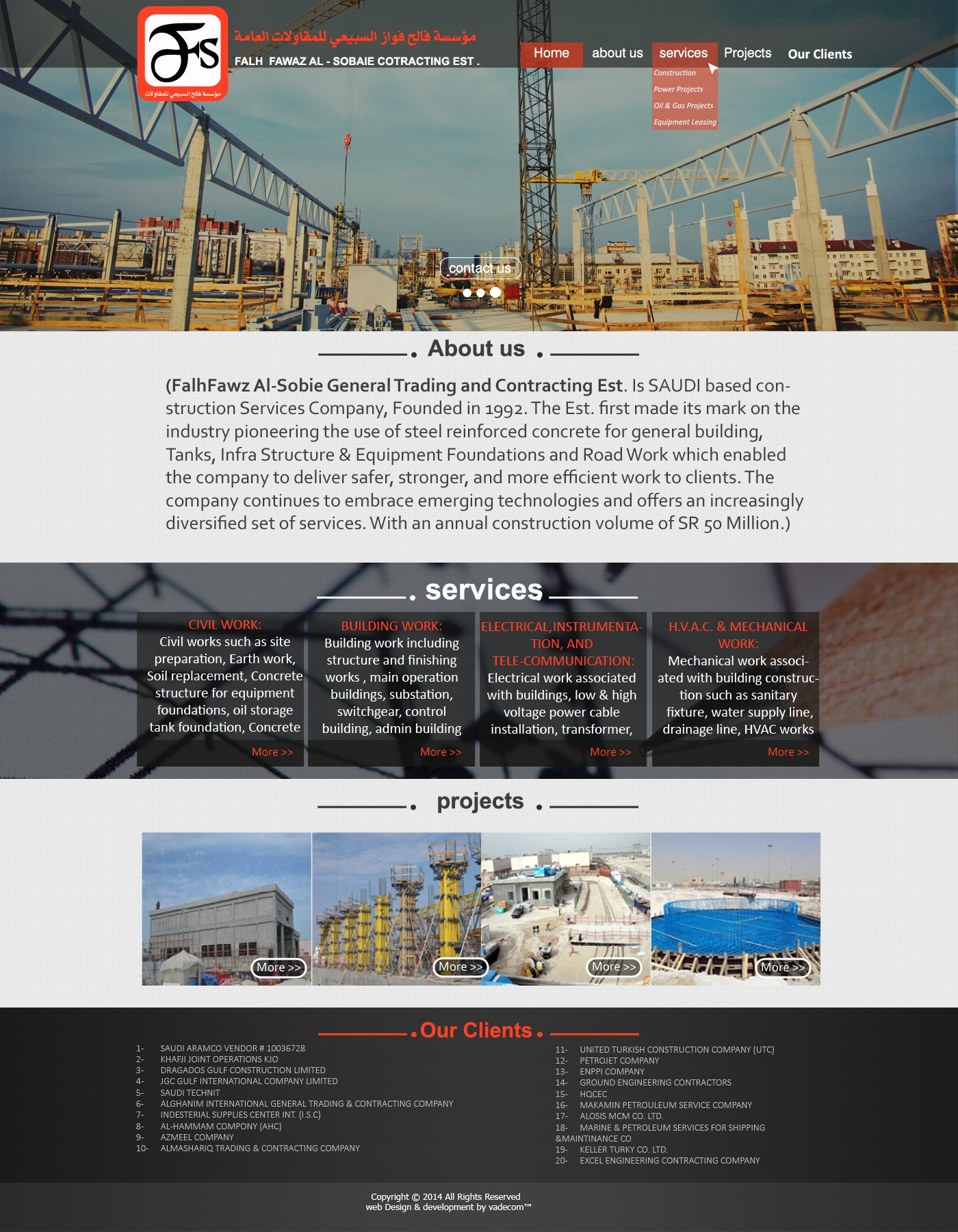 Construction Web Design -falsobaie.com
